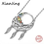 New arrival dreamcatcher charms pendant necklace 925 sterling silver beads chain European <b>jewelry</b> <b>making</b> Valentine's Day gifts