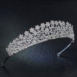 Classic Cubic Zirconia Flowers Wedding Bridal Tiara Crown Women Girl Hair <b>Jewelry</b> Accessories Rhinestone Crystals Tiaras S16438