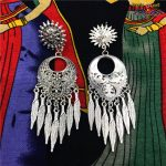 Original Design India Bollywood Tassel Stud Earrings. Ethnic <b>Handmade</b> Ancient Exaggerated Ornaments Belly Dance Lslamic <b>Jewelry</b>