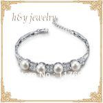 Sinya freshwater pearl <b>silver</b> <b>bracelet</b> for women pearl dia 8-8.5mm high luser length 16.7cm Hot sale