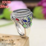 100% 925 Sterling Silver Ring Blank <b>Jewelry</b> Fit Oval 12*15.5mm Royal Cloisonne Vintage Ring Base Tray for DIY <b>Handmade</b>