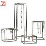 4Pcs/Lot Stainless Steel <b>Jewelry</b> Display Holder Store Window Domestic <b>Necklace</b> Chain Earring <b>Jewelry</b> Organizer Holder Stand Rack