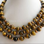 new fashion 8mm circular tiger's eye and Coffee pearl necklace Fashion <b>Jewelry</b> <b>Making</b> Design Gifts For Men Ornaments 50 W0025