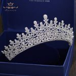 Top Quality Royal Queen Zircon Brides Tiaras Crowns European Silver Crystal Hairbands Wedding Hair Accessories Prom <b>Jewelry</b>