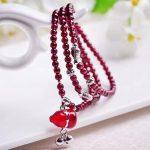108pc/lot Natural High Quality Carlet Garnet Quartz Stone Loose Beads <b>Making</b> Bracelets DIY <b>Making</b> for Women Love XK-01