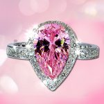 Female Gem <b>Accessories</b> Zircon Austria Crystal <b>Jewelry</b> Fashion Jewellery Pink Stone Ring Fashion Rings