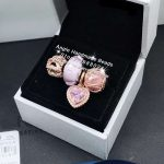 4pcs Rose Gold <b>Jewelry</b> Set Pink Heart CZ Dangle Charms Beads Fit DIY Bracelet Necklaces <b>Jewelry</b> <b>Making</b> Woman Gift