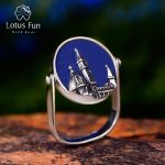 Lotus Fun Real 925 Sterling <b>Silver</b> Natural Aventurine Gemstone Ring Fine <b>Jewelry</b> Florence Cathedral Rings For Women Bijoux