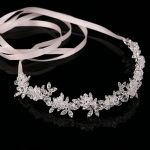 TUANMING Hot Ladies Silver Crystal Bridal Wedding Tiara Flower Pearls Crystal Chain Headband Hair Clip Comb <b>Jewelry</b>