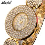 MISSFOX Miss Fox Quartz Women Watches <b>Silver</b> Waterproof Ladies Watches Top Brand Luxury Wrist Watches For Women Gold Reloj Muje