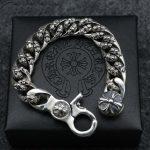 High – End <b>Sterling</b> <b>Silver</b> Men 's Double – Sided Cross Bracelet <b>Jewelry</b> Personality Domineering Retro Thai <b>Silver</b> Twist Bracelet