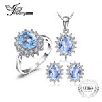 JewelryPalace Natural Topaz Ring Earring Pendant and a Gift Chain Diana <b>Jewelry</b> Set Solid 925 <b>Sterling</b> <b>Silver</b> <b>Jewelry</b> Set