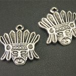 8pcs Antique Sliver Indian Chief Charm <b>Native</b> <b>American</b> Charm Metal Charms For <b>Jewelry</b> Making 23X21mm A1898