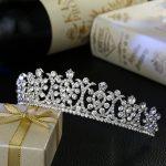 new bride wedding hair <b>jewelry</b> crystal tiara bridal crown crystal <b>fashion</b> accessories wholesale