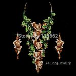 Large Gorgeous Exaggeration Baroque <b>Jewelry</b> Sets Austrian Crystal ROSE flower style for party <b>necklace</b> earrings Free Shipping