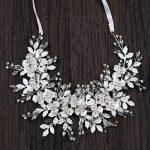Bride Headwear Headband White Leaves <b>Handmade</b> <b>Jewelry</b> For Women Wedding For Her GL-417