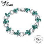 JewelryPalace Butterfly Shape 6.8ct Created Emerald Tennis <b>Bracelet</b> For Women 925 Sterling <b>Silver</b> Jewelry Fine Jewelry Gift