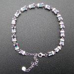 Hot sale Women <b>Jewelry</b> 100% 925 <b>Sterling</b> <b>Silver</b> Bracelet with Mystic Topaz Chain link Bracelet DR01407207B 7″+1″extension Chian