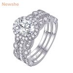 Newshe 3 Pcs <b>Wedding</b> Ring Set Classic <b>Jewelry</b> 925 Sterling Silver 1.8 Ct Oval Shape AAA CZ Engagement Rings For Women JR4669