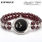 Beauties of Emperor EPOZZ nature gemstone series new quartz watch women 925 <b>Silver</b> bead jewelry watches pearl <b>bracelet</b> H0721S1