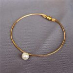Personalized <b>Handmade</b> Natural freshwater pearls Bracelets Gold Wrap Fillde Customize Bangles Vintage <b>Jewelry</b> Bracelet for Women