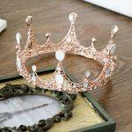 Dower me Opal Crystal Tiara Vintage <b>Wedding</b> Crown Hair Accessories Gold Bridal Headpiece Women Crowns <b>Jewelry</b>