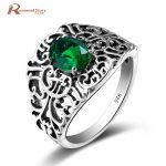 Bulgaria <b>Jewelry</b> Green Vintage Charms Green CZ Stone Genuine 925 Sterling Silver <b>Handmade</b> <b>Jewelry</b> For Women Wedding Party Gifts