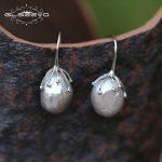 GLSEEVO Natural Fresh Water Baroque Gray Pearl <b>Earrings</b> Hook For Women Handmade Luxury Jewellery Oorbellen Voor Vrouwen GE0335B