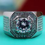 Size 8-13 Luxury <b>Jewelry</b> Full Round cut Diamonique 10kt white filled AAA CZ Zirconia Men Simulated stones <b>Wedding</b> Band Ring gift