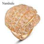 Nandudu Fashion <b>Jewelry</b> Gift Ring Mesh Crystals Fishnet Austrian Crystal <b>Jewelry</b> Female Rings <b>Accessories</b> R38