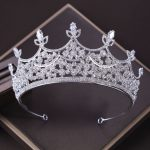 Korean high-grade super flash crystal bride headdress <b>wedding</b> large crown bridal hair <b>jewelry</b>