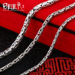 Beier new store 100% 990 silver sterling <b>necklaces</b> pendants trendy fine <b>jewelry</b> chains for women/men Gift BR-XL002