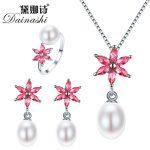 Dainashi 2018 New <b>Jewelry</b> Set For Women Elegant 925 <b>Sterling</b> <b>Silver</b> Pendant Necklace&Earrings Top Quality Big Pearl <b>Jewelry</b>