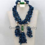 Gorgeous <b>Handmade</b> African Beads Blue Coral <b>Jewelry</b> Set Nigerian Wedding African Coral Beads New Free Shipping CNR425