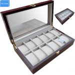 Luxury 12 Slots Wood Glossy Lacquer Watch Box <b>Jewelry</b> Collection Display Drop Shipping <b>Supply</b>, Box Watches Collect Tools