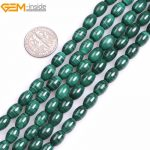 Gem-inside Grade A Natural Olive Green Smooth Malachite Spacer Beads For <b>Jewelry</b> <b>Making</b> Beads Strand 15″ DIY Jewellery