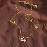 Dyxytwe Simple Elegant Flower Gem Leaf Ladybug Necklace Women Party Prom <b>Wedding</b> Accessories Fashion <b>Jewelry</b>