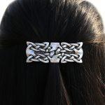<b>Antique</b> Silver Viking Irish Celtics Knots Barrette Hair Clip Hair Grip Women Hair <b>Jewelry</b> Accessories