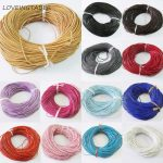 Wholesale 1.5mm Size Cowhide/Genuine Leather Cords Round Rope String Cord For <b>Jewelry</b> <b>Making</b> (Length: about 90meters Each)