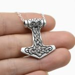 10pcs Tiny Thor's Hammer Mjolnir Pendant <b>Necklace</b> For Women Norse Viking <b>Necklace</b> Talisman Amulet <b>Necklace</b> <b>Silver</b> Bronze CT416