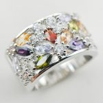 weinuo sterling-silver-<b>jewelry</b> White Crystal Zircon Garnet Morganite 925 sterling silver <b>jewelry</b> Ring Size 6 7 8 9 10 11 A31