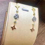 High quality brand <b>jewelry</b> color hollow four-leaf clover earrings Titanium steel long color three earrings <b>wedding</b> <b>jewelry</b>