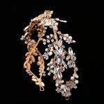 TUANMING Hot Headdress Silver Gold <b>Wedding</b> Headband Retro Bride Hair Accessories Pearls Crystal Baroque Handmade Hair <b>Jewelry</b>