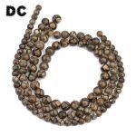 DC 1 String Round Brown Stone Pattern DZI Beads 8mm 10mm 12mm for Strand Beaded Bracelet Necklace DIY <b>Jewelry</b> <b>Making</b> Findings