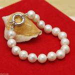 Natural! 8-9mm white freshwater akoya pearl <b>bracelet</b> 7.5″