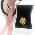NEW! Perfect logo Charms Engraved S925 Silver <b>jewelry</b> Honeycomb Lace ring charm shine charm women,doracharms,1pz