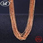 WK 5 10 20 50 100 PCS LOTS Peal Pure 925 Sterling <b>Silver</b> Chain <b>Necklace</b> Jewelry Wholesale Lot Chaine Argent 925 Link Chain NA006