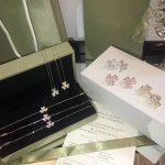 Hot Brand Pure 925 Sterling <b>Silver</b> Jewelry Set For Women Wedding Jewelry Set Flower Clover Necklace Earrings <b>Bracelet</b> Rings Set