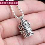 2017 Men Women Buddha Pendant 925 Sterling <b>silver</b> Gum Box Can hold things <b>Necklace</b> Pendant Male Christmas gift Fine Jewelry FP41