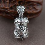 FNJ Vintage Gawu Box Pendant 925 Sterling Silver 100% Real Pure Genuine S925 Solid Thai Silver Pendants for Men <b>Jewelry</b> <b>Making</b>